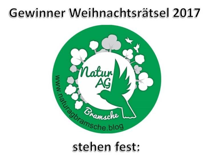 Gewinner WR2017 stehen fest